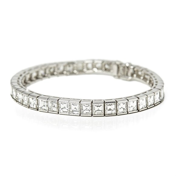 Cartier Platinum Diamond Tennis Bracelet