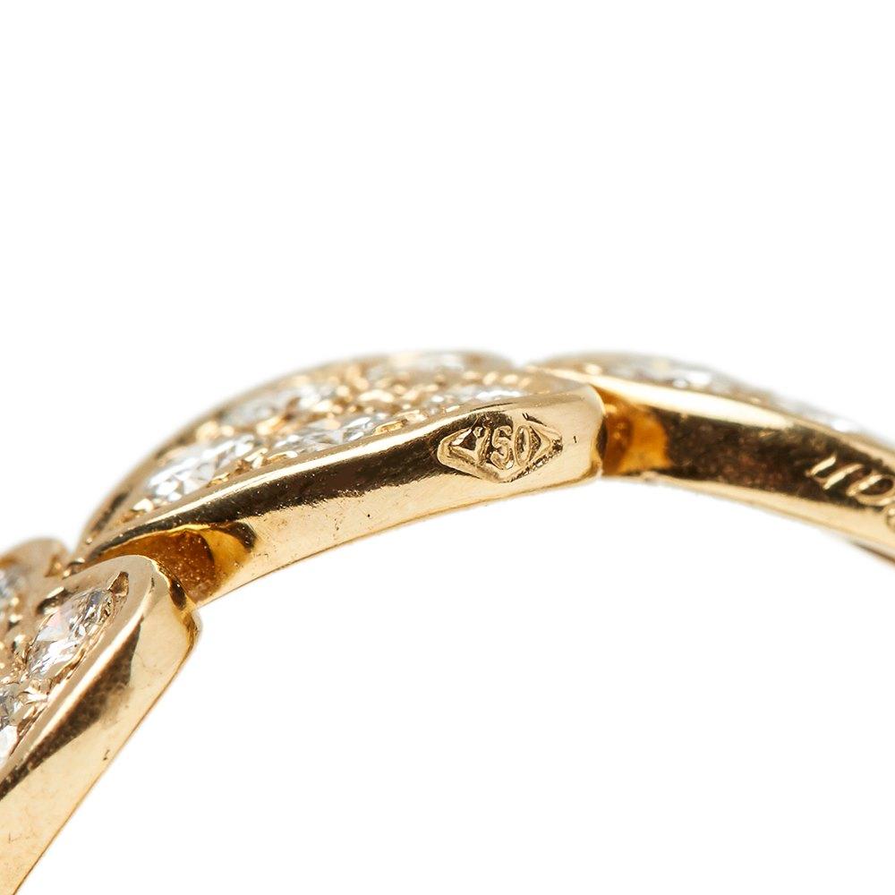 Cartier 18k Yellow Gold Diamond Heart Design Band Ring