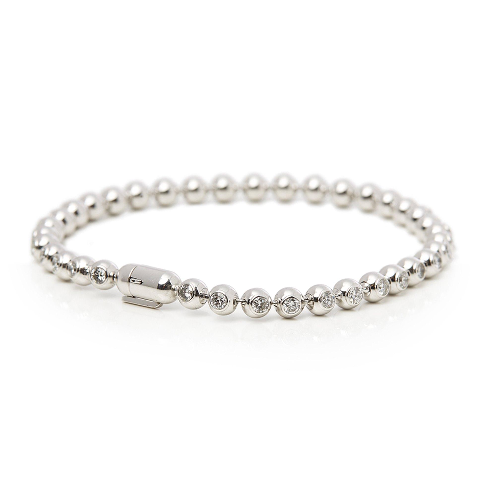 Cartier 18k White Gold Diamond Perles de Diamants Bracelet