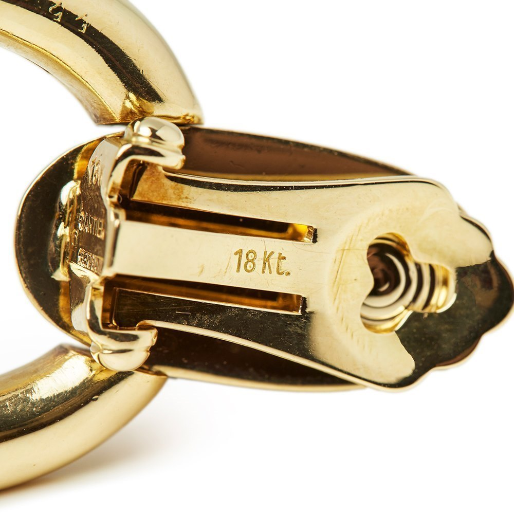 Cartier 18k Yellow Gold Door Knocker Clip-On Earrings