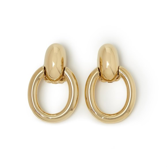 Cartier 18k Yellow Gold Door Knocker Earrings