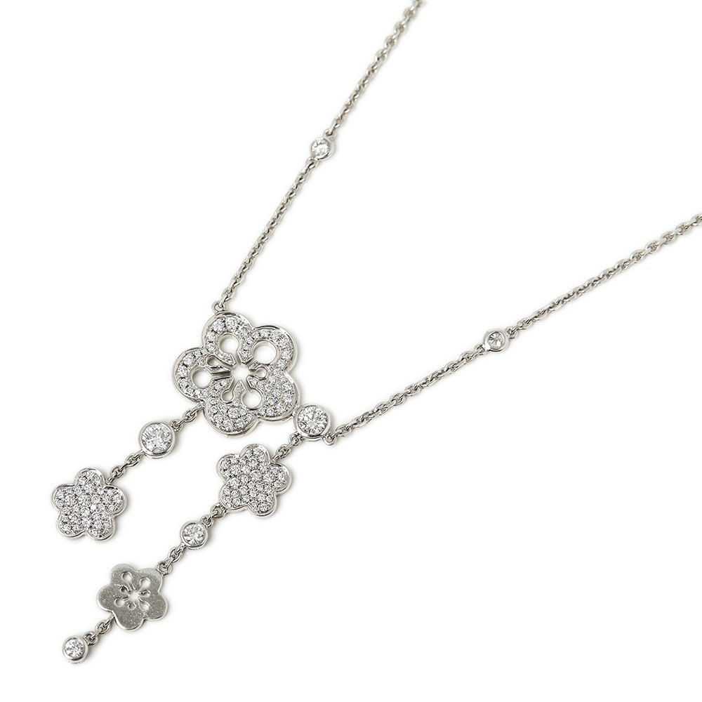 5e96e9a6215 Boodles 18k White Gold Diamond Blossom Necklace COM1336