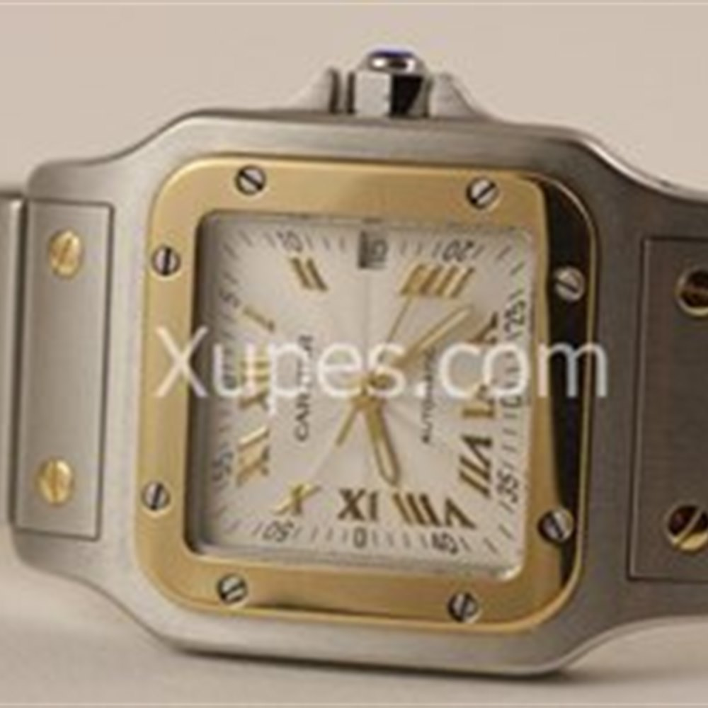 Cartier Santos Stainless Steel/18K Yellow Gold Bezel