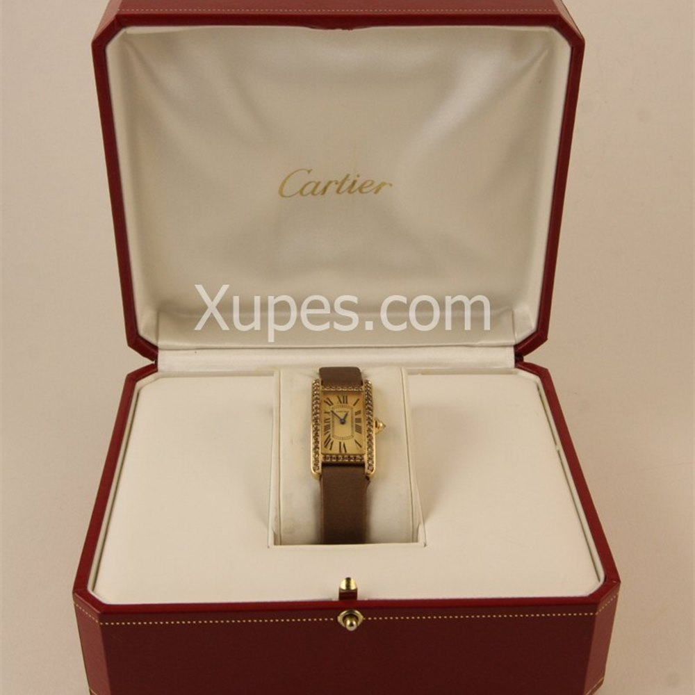 Cartier Tank Americaine 18k Yellow Gold