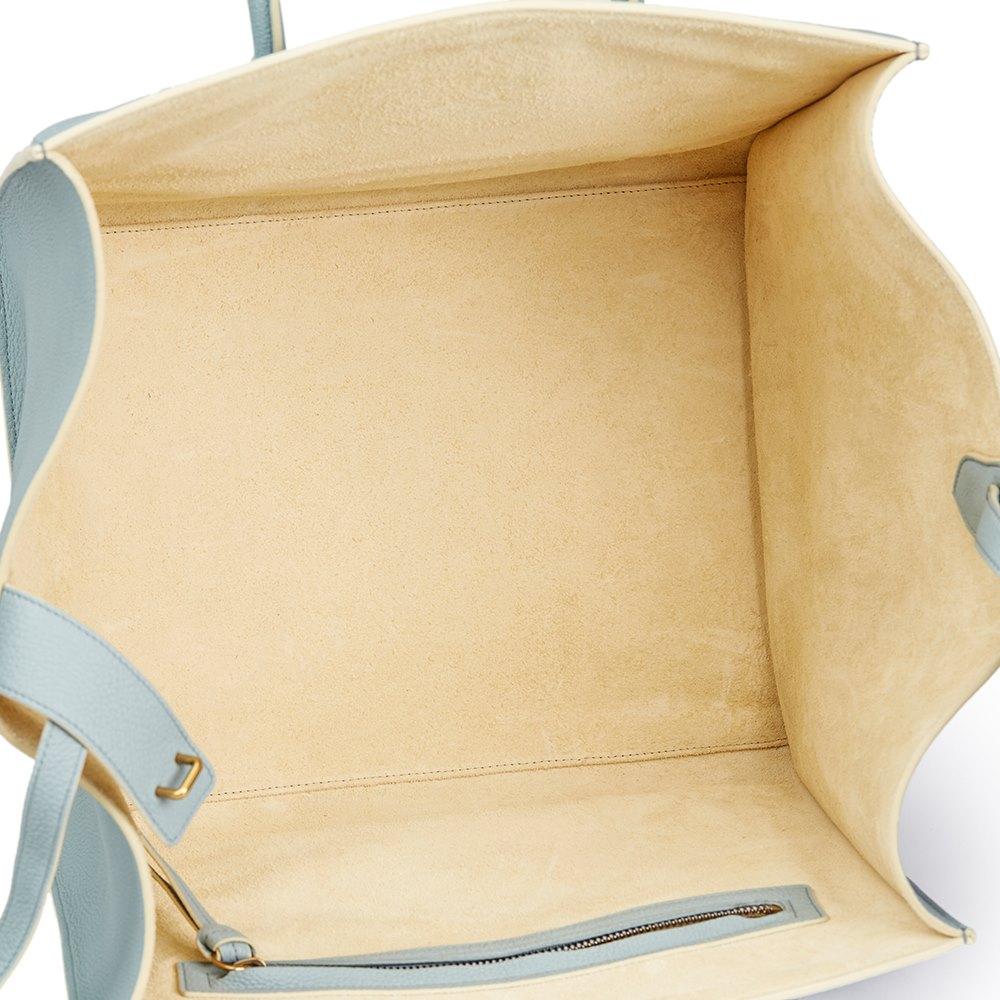 4329a18df3 Céline Cloud Blue Calfskin Leather Medium Phantom Luggage Tote