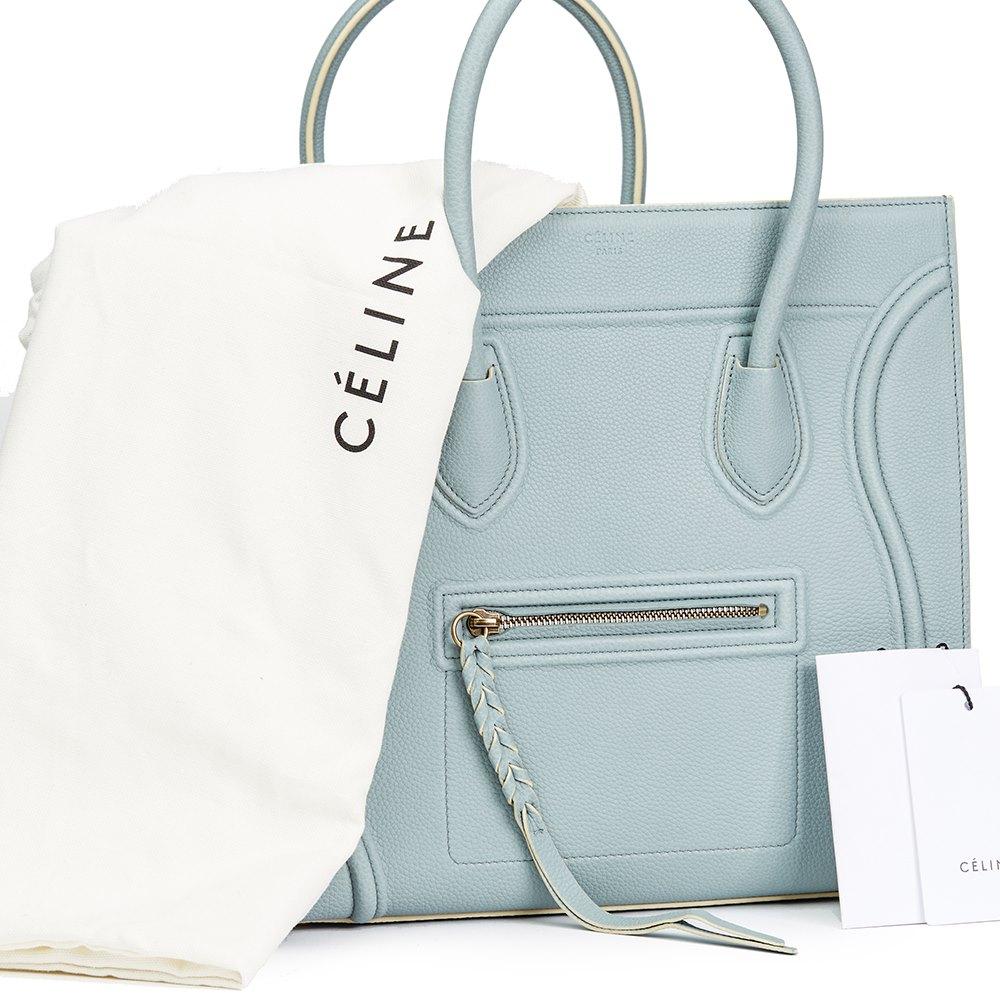 82929018ed97 Céline Cloud Blue Calfskin Leather Medium Phantom Luggage Tote