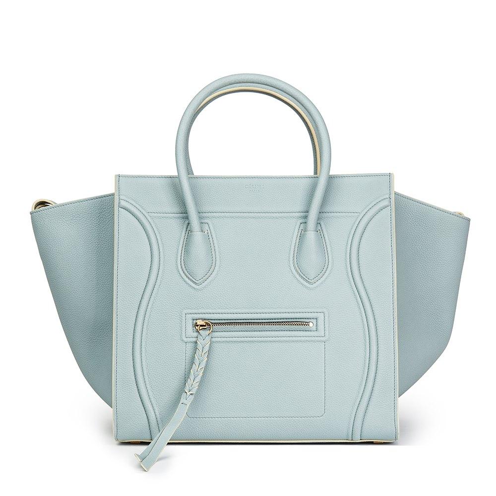 Céline Cloud Blue Calfskin Leather Medium Phantom Luggage Tote a0fcd8b2486db