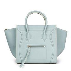 Céline Cloud Blue Calfskin Leather Medium Phantom Luggage Tote