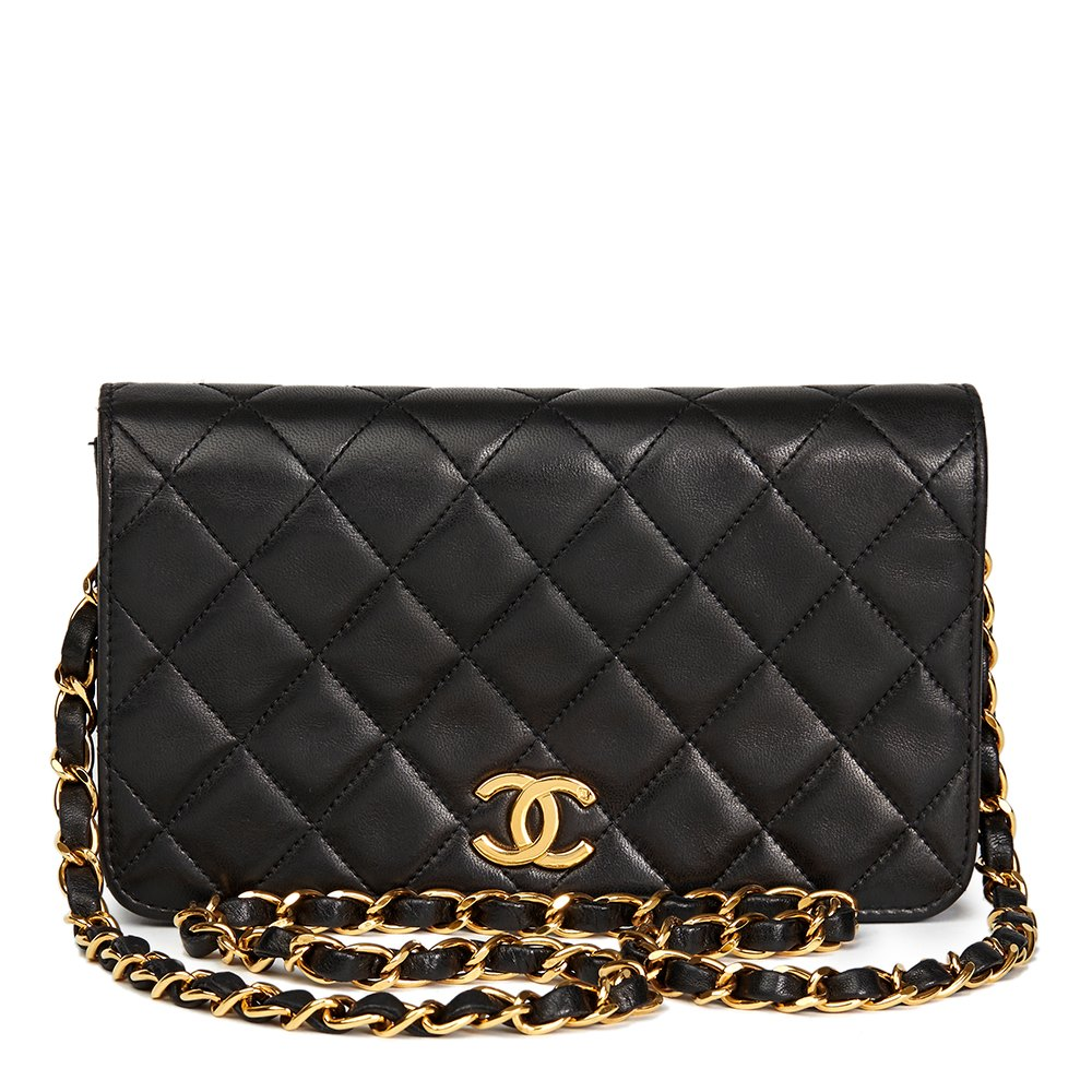 d52c48d81144 Chanel Black Quilted Lambskin Vintage Mini Flap Bag | Stanford ...