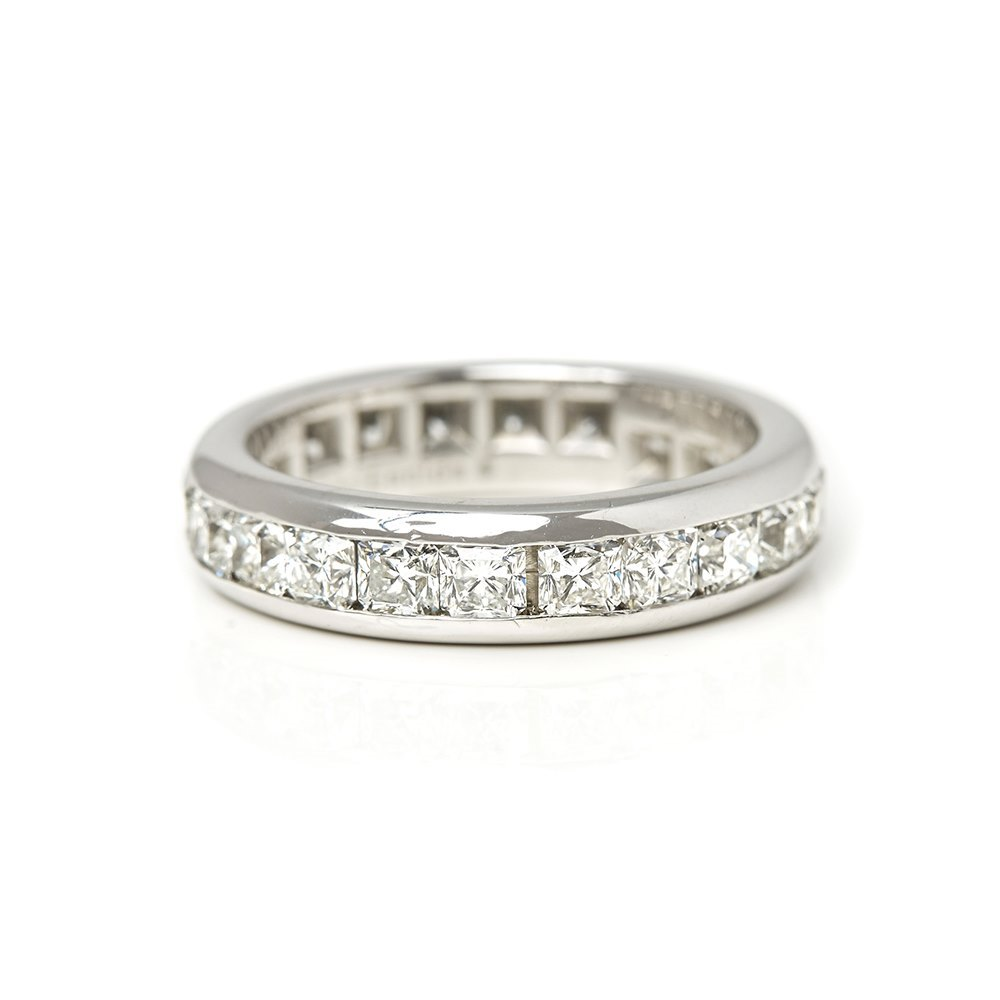 Tiffany & Co. Platinum Full Diamond Eternity Lucida Ring