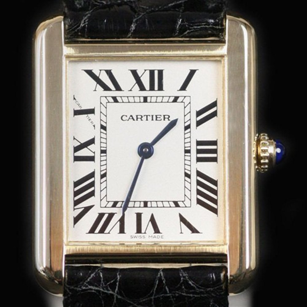 Cartier Tank Solo 18k Yellow Gold