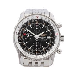Breitling Navitimer World Chronograph 46mm Stainless Steel - A24322