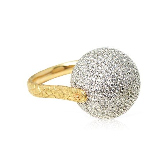 Bottega Veneta Sfera Diamond Ring