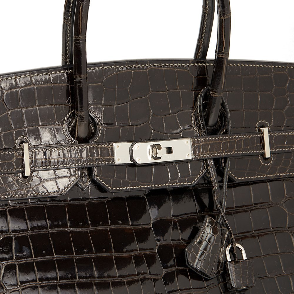 95f504047547 ... switzerland hermès graphite porosus crocodile leather birkin 35cm 86a5f  a57ce