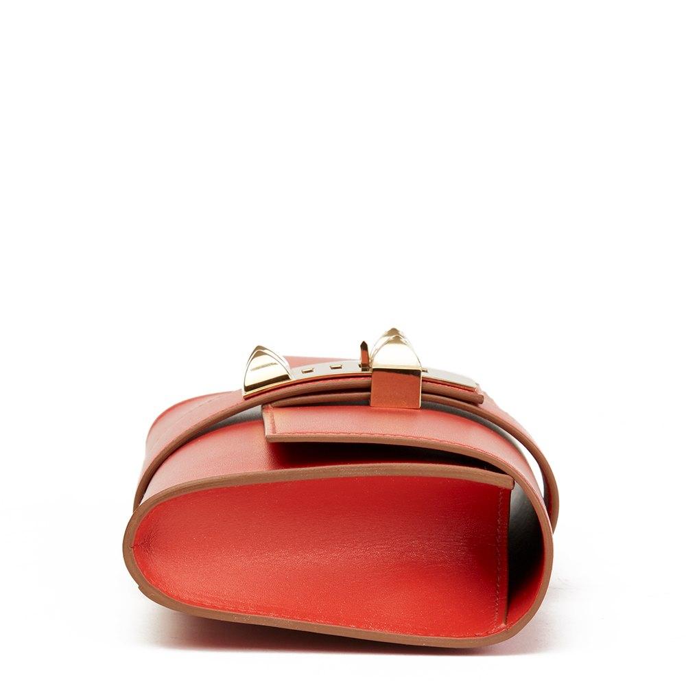 713795e77ea4 Hermès Sanguine Tadelakt Leather Medor 23 Clutch