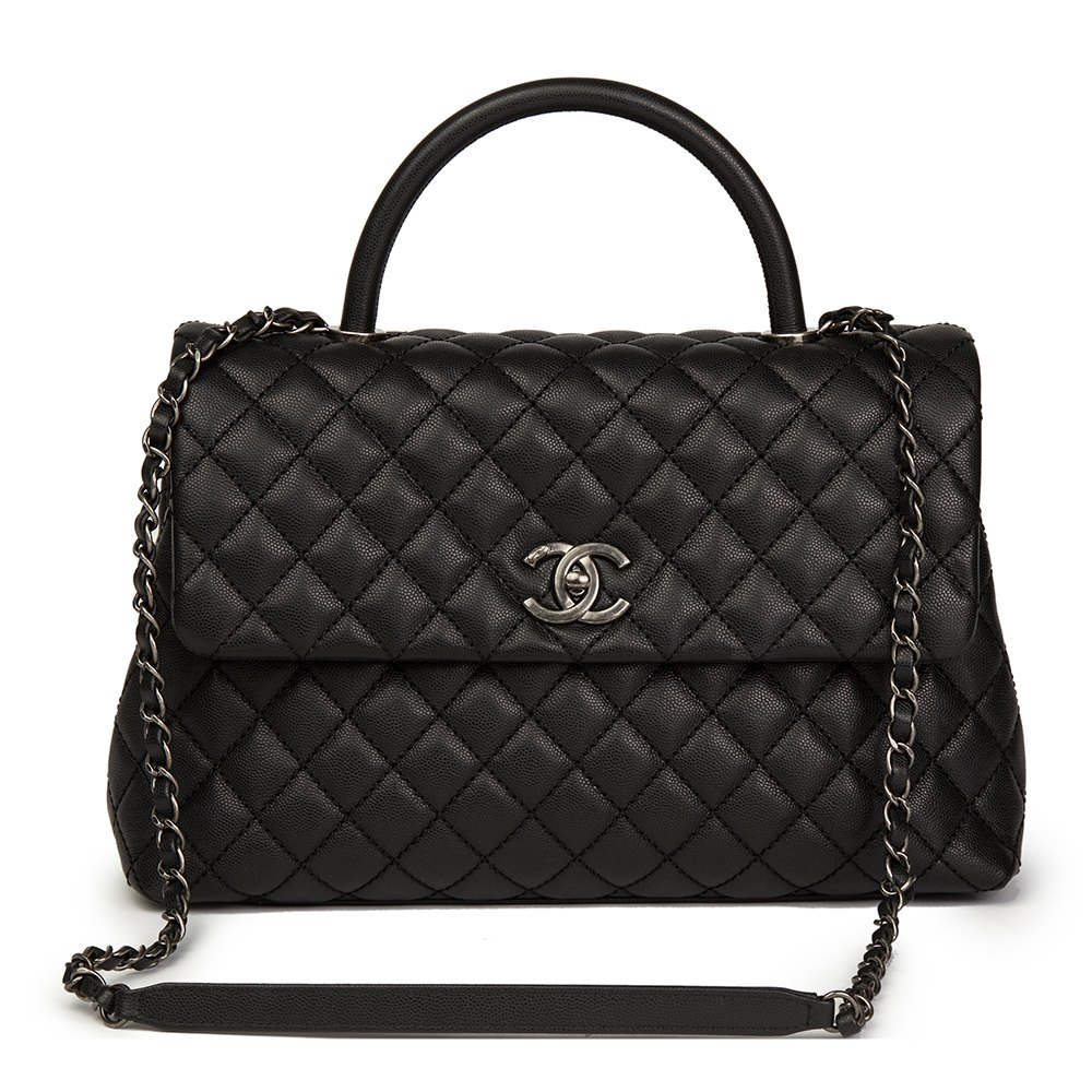 bffcd5a396fab0 Chanel Large Coco Handle 2017 HB1497 | Second Hand Handbags | Xupes