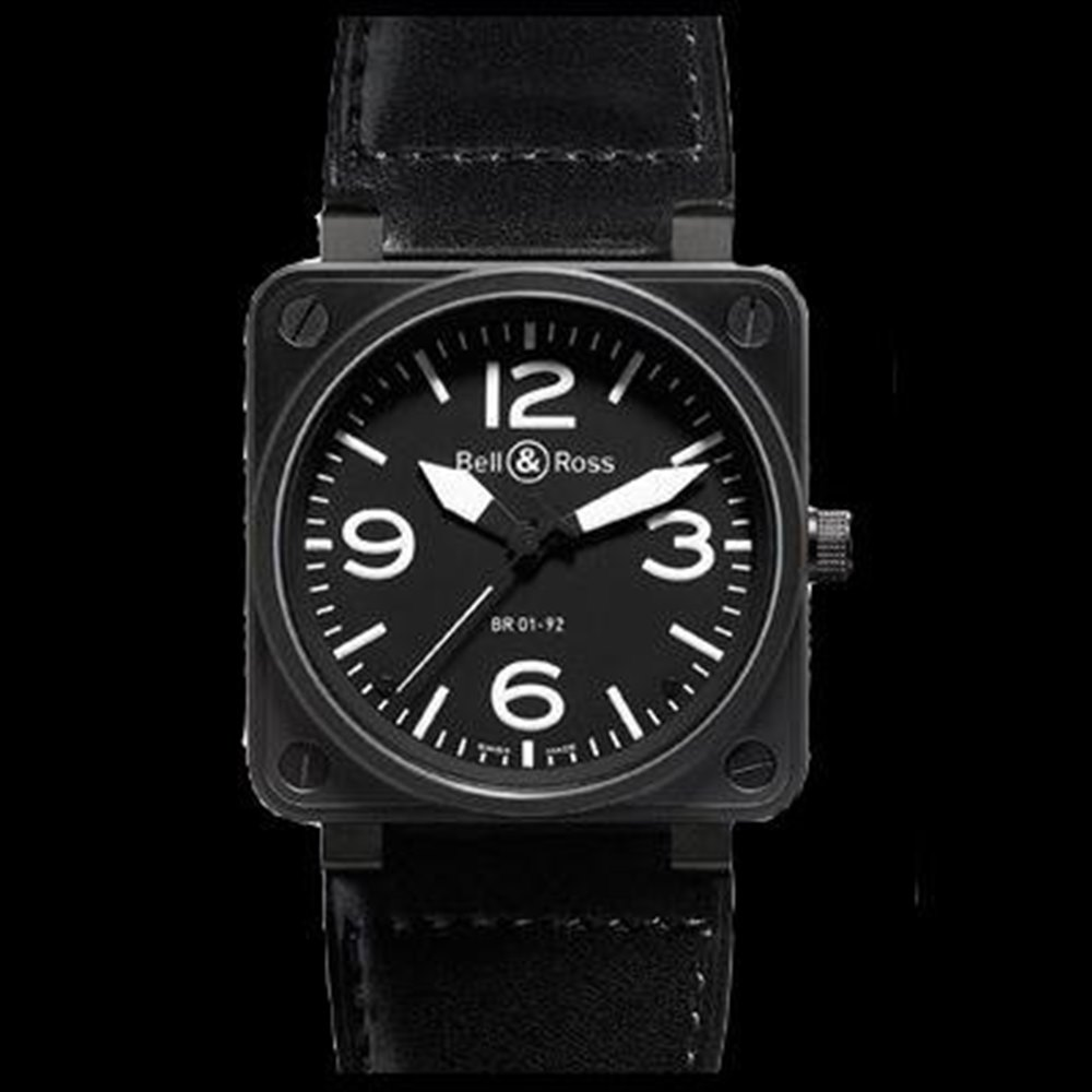 Bell & Ross BR01-92 Black Stainless Steel BR 01-92 Carbon