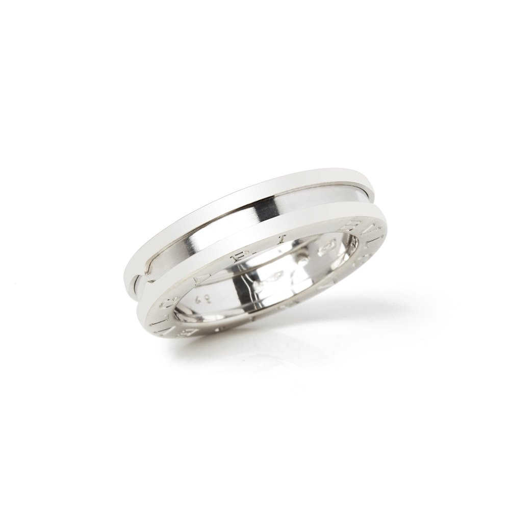 Bulgari 18k White Gold B.Zero 1 Ring Size J