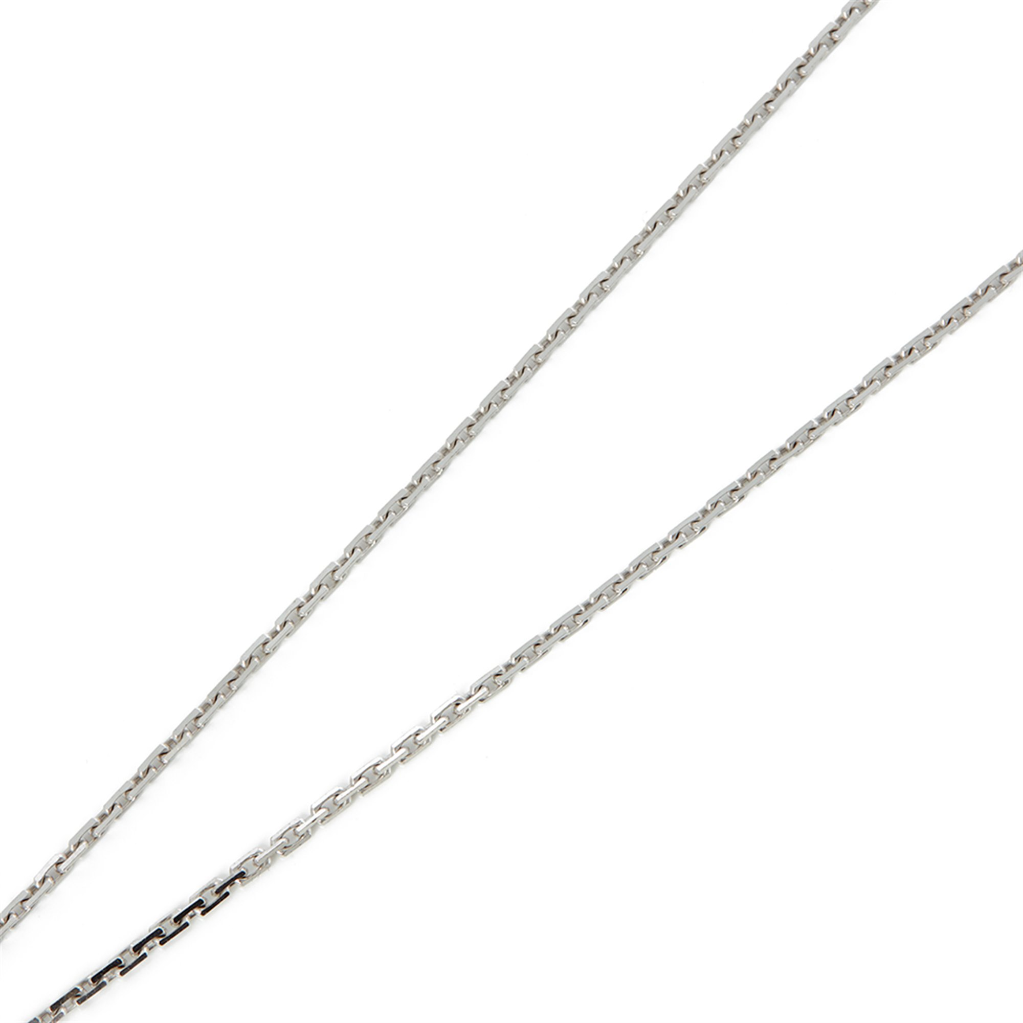 Cartier 18k White Gold Diamond Love Pendant Necklace