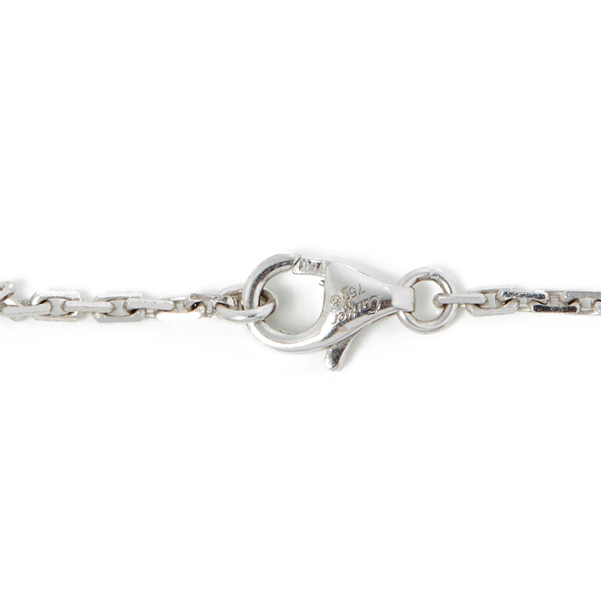 Cartier 18k White Gold Diamond Love Pendant Necklace