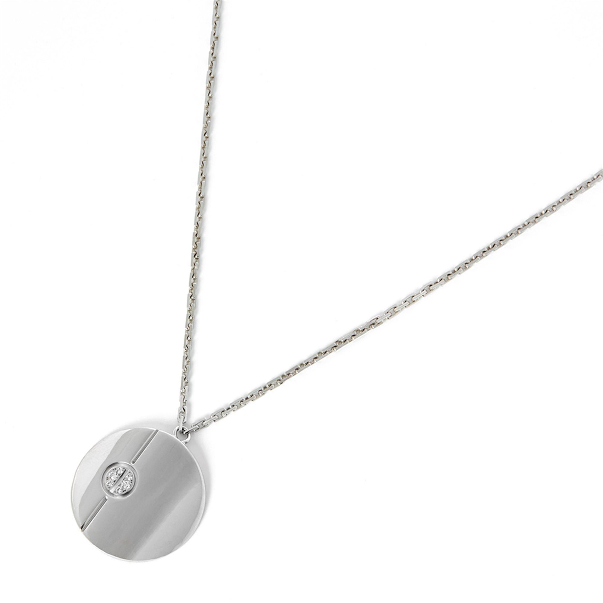 b5bebf6b8ea 18k White Gold Diamond Love Pendant Necklace