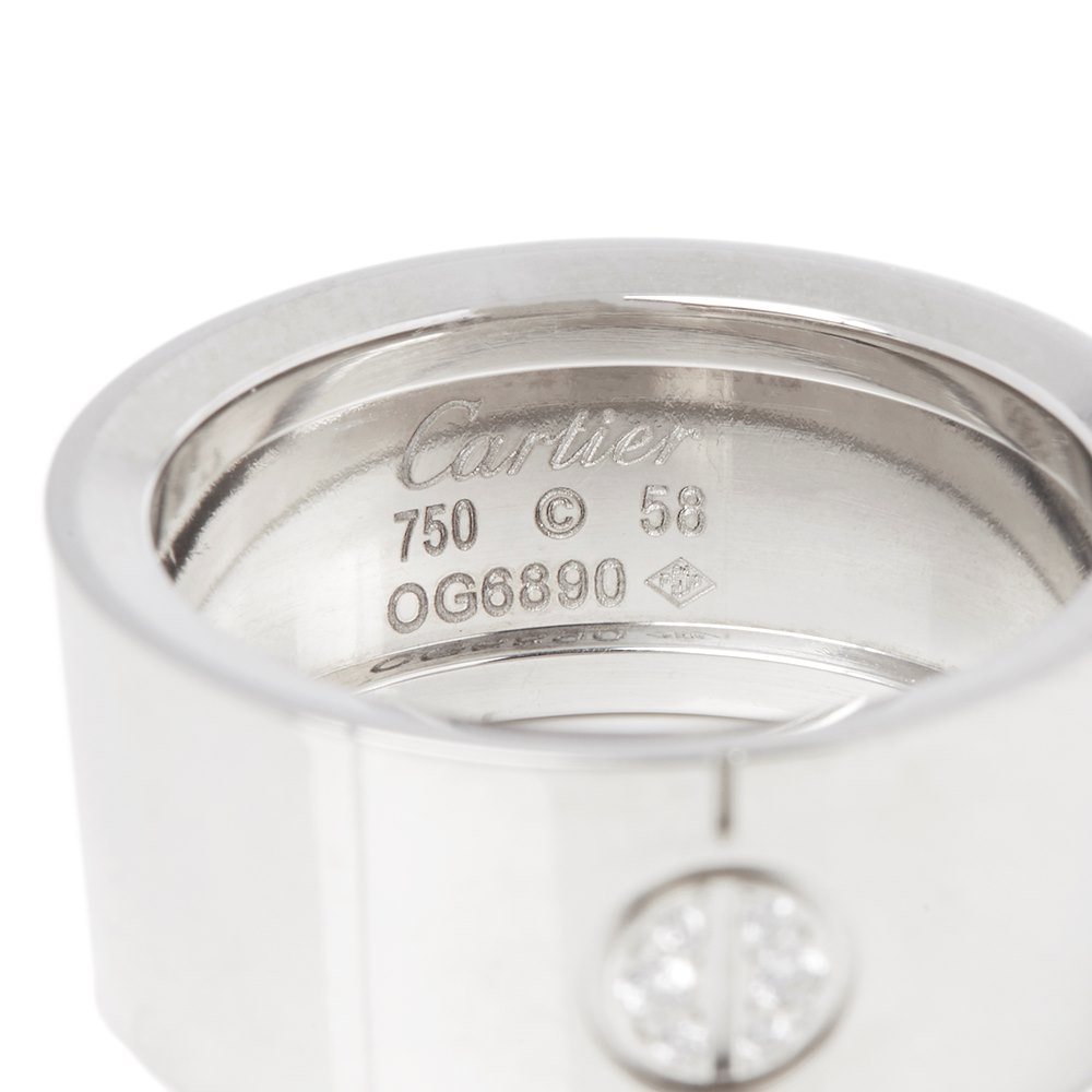 Cartier 18k White Gold Diamond High Love Ring