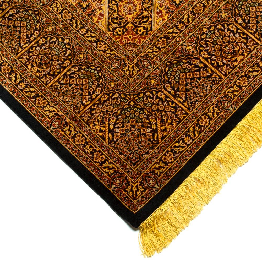 VINTAGE MOHAMMEDI SILK QUM MEDALLION PERSIAN RUG Unknown