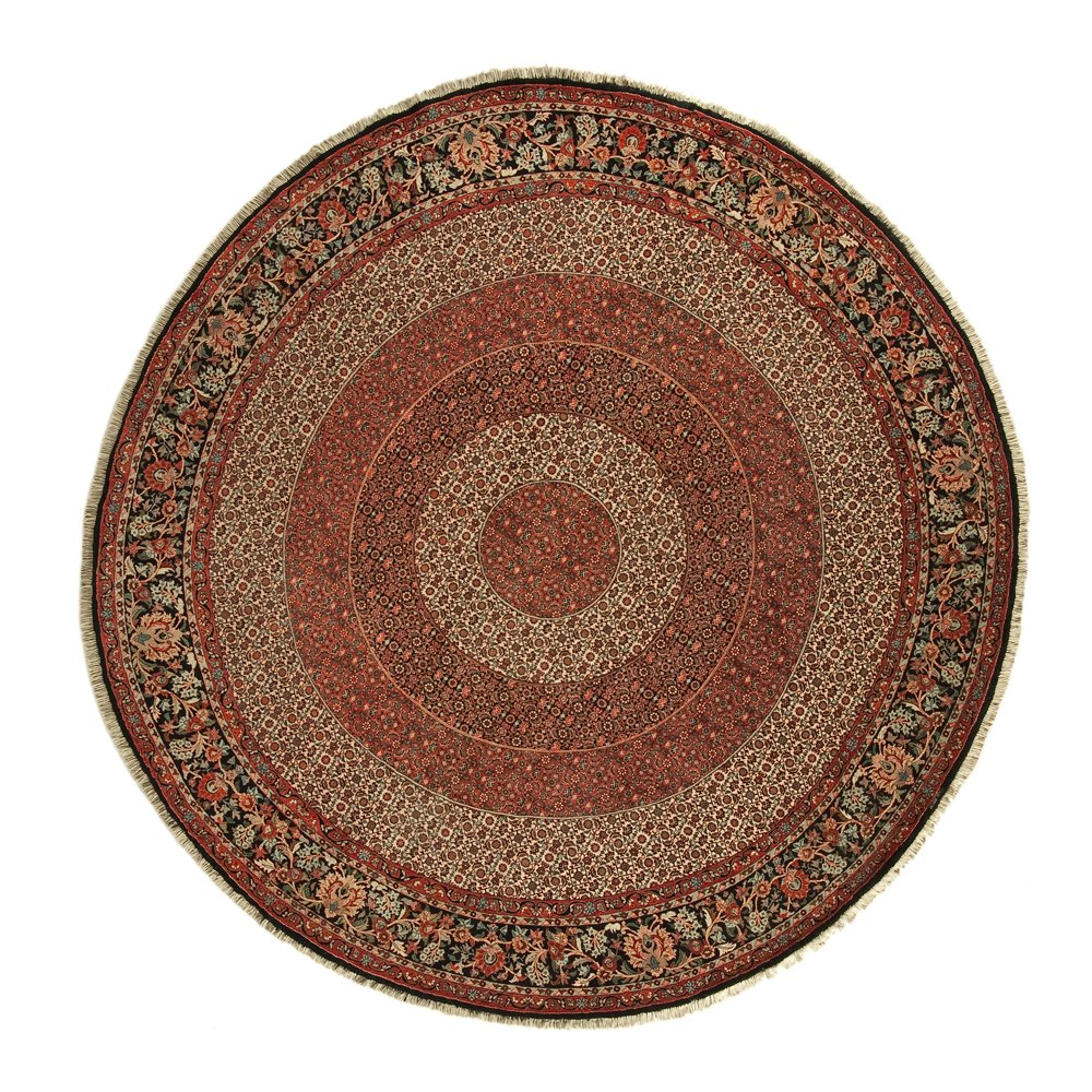 VINTAGE ROUND BIDJAR PERSIAN RUG Unknown