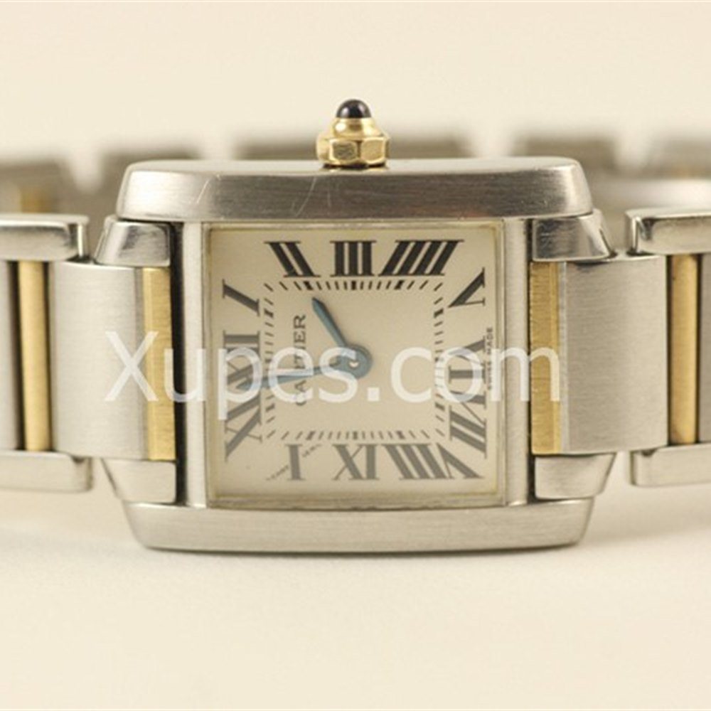 Cartier Tank Francaise Stainless Steel/18K Yellow Gold Crown *********