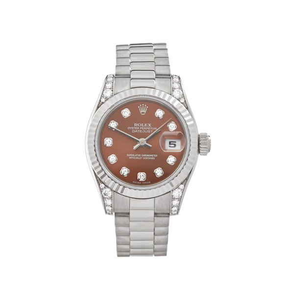 Rolex Datejust 26 26mm 18K White Gold - 179239