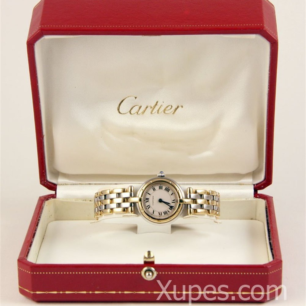 Cartier Panthère Ronde Stainless Steel/18k Yellow Gold Bezel