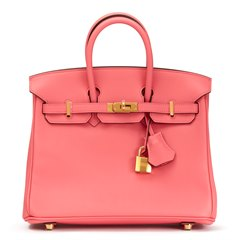 Hermès Rose Azalée Swift Leather Birkin 25cm