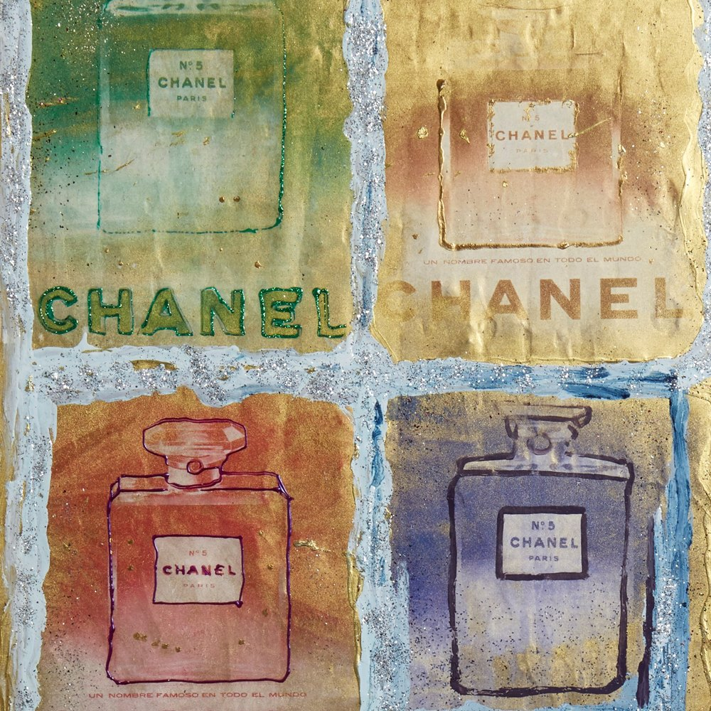 PIETRO PSAIER CHANEL PERFUME BOTTLES MIXED MEDIA 1970's Believed to date from the 1970's
