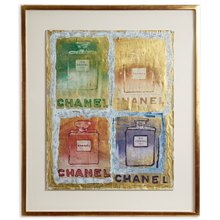 PIETRO PSAIER CHANEL PERFUME BOTTLES MIXED MEDIA 1970's