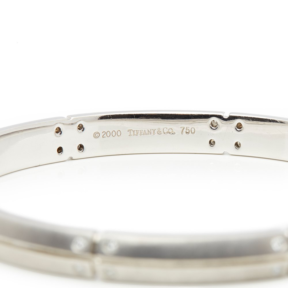Tiffany & Co. 18k White Gold Diamond Streamerica Bracelet