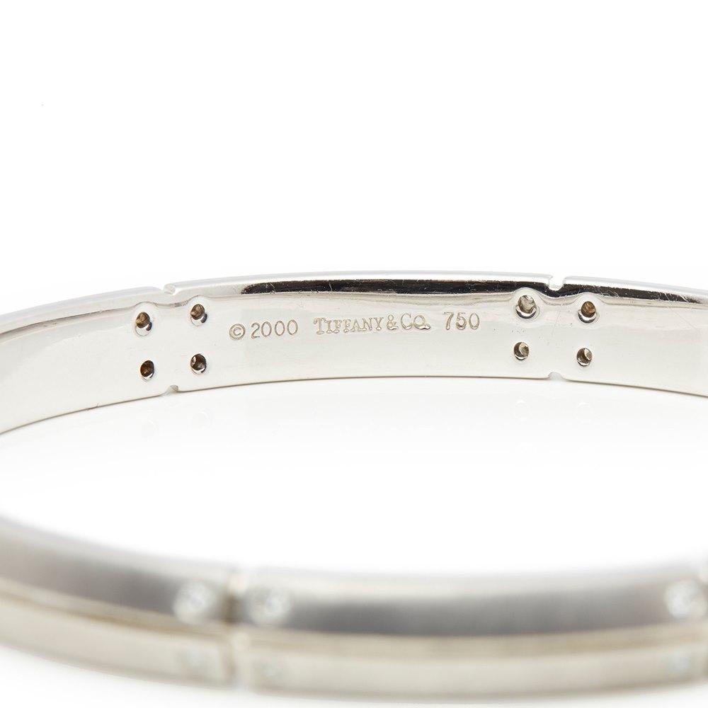 Tiffany & Co. 18k White Gold Diamond Streamerica Bracelet