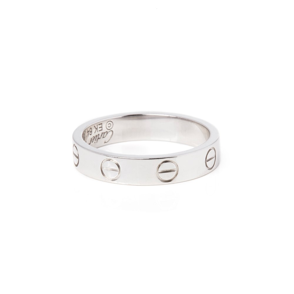 Cartier 18k White Gold Mini Love Ring