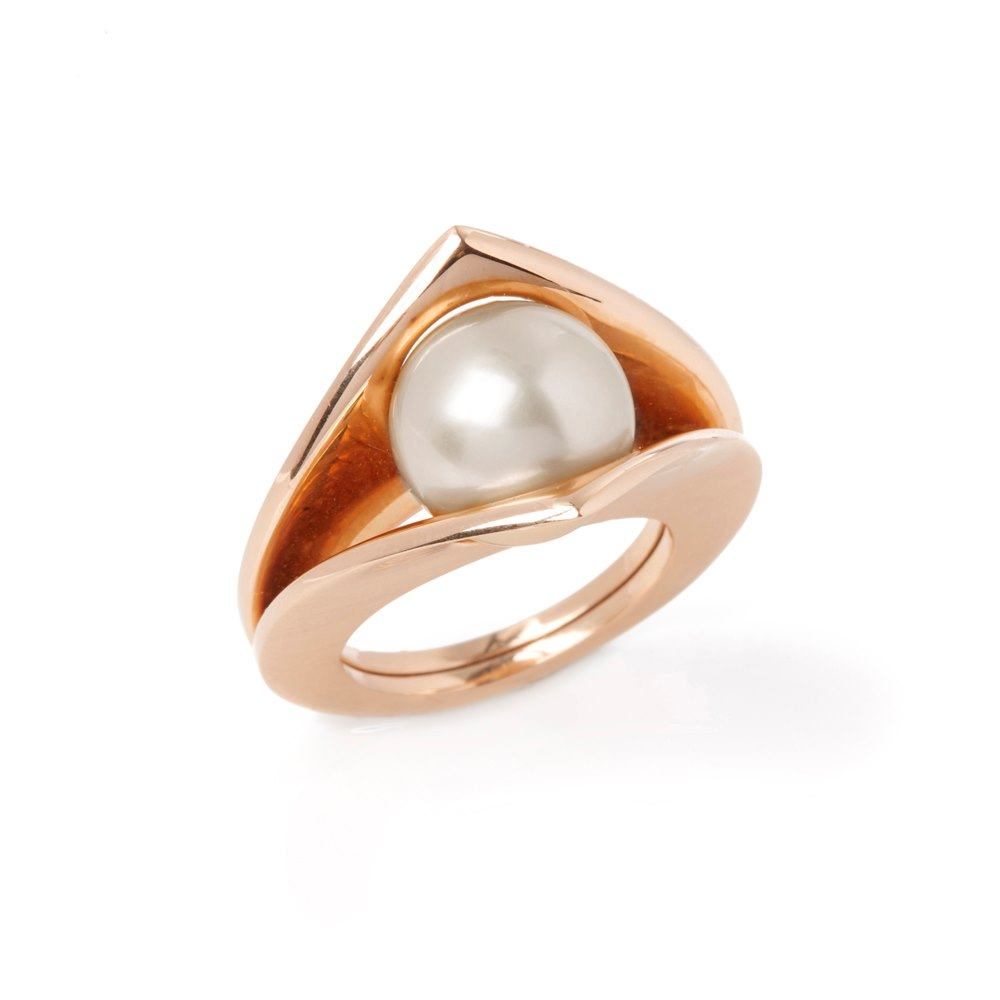 Paul Spurgeon 18k Rose Gold Cultured Pearl Cocktail Ring