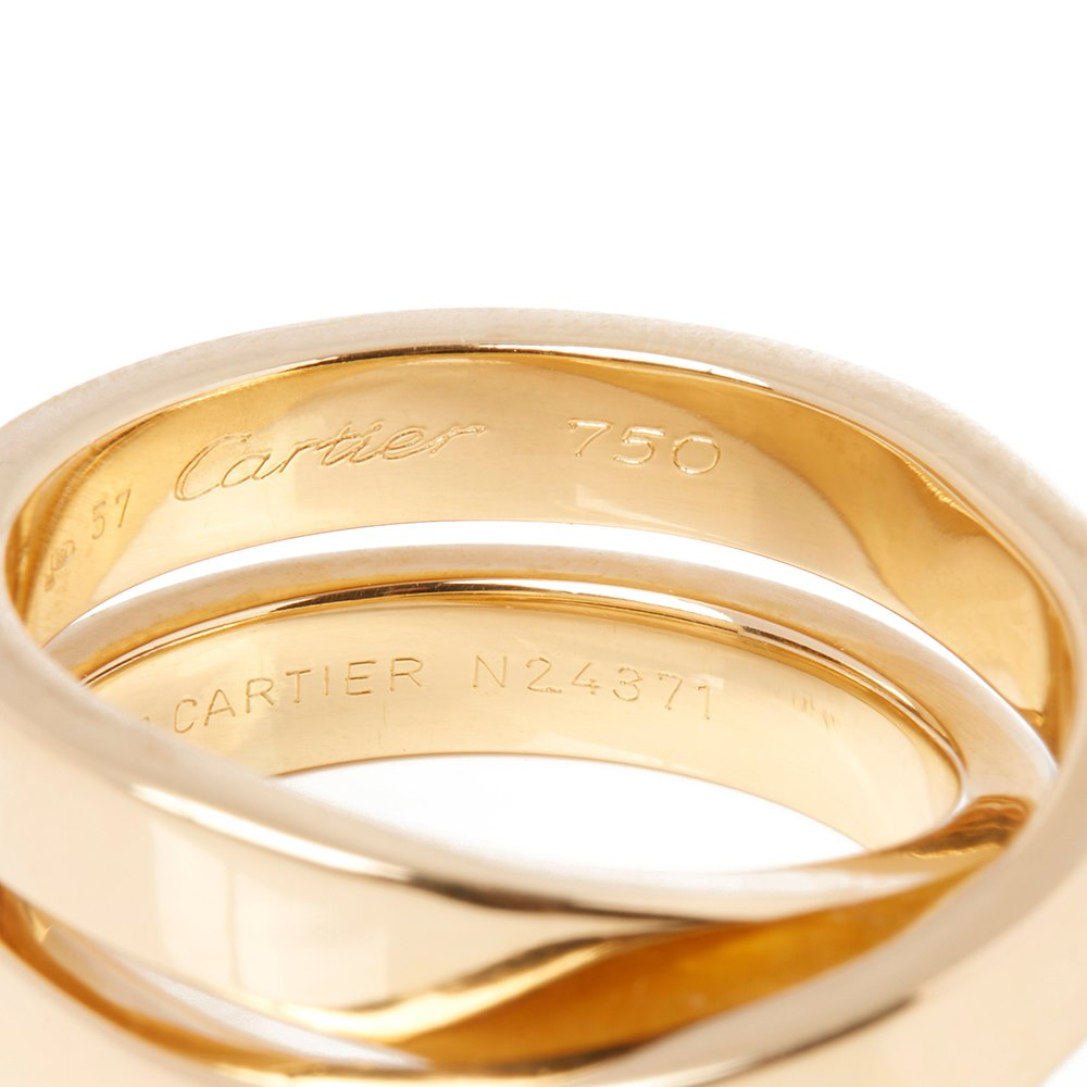 Cartier 18k Yellow Gold Paris Nouvelle Vague Ring