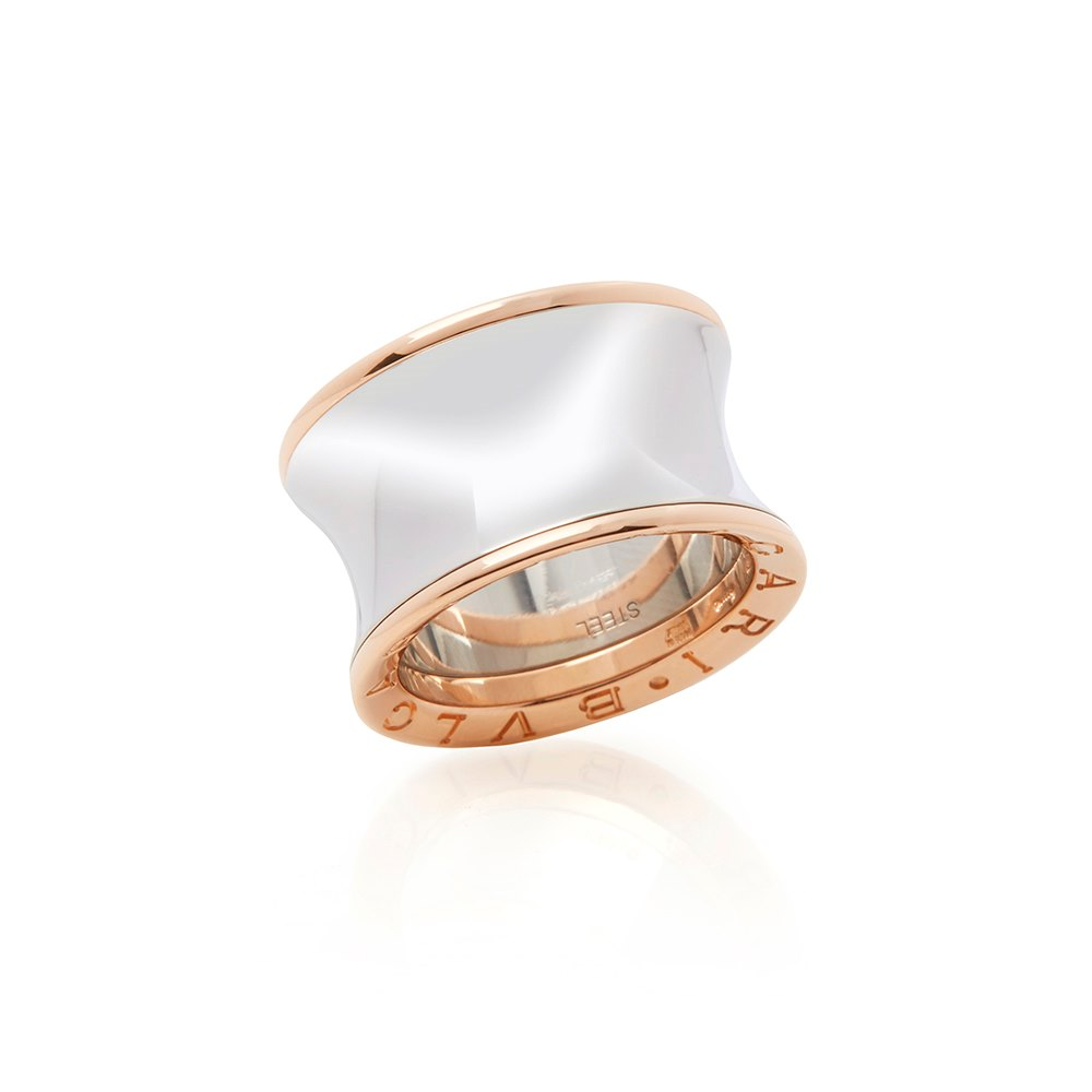 Bulgari 18k Rose Gold & Steel Anish Kapoor Ring