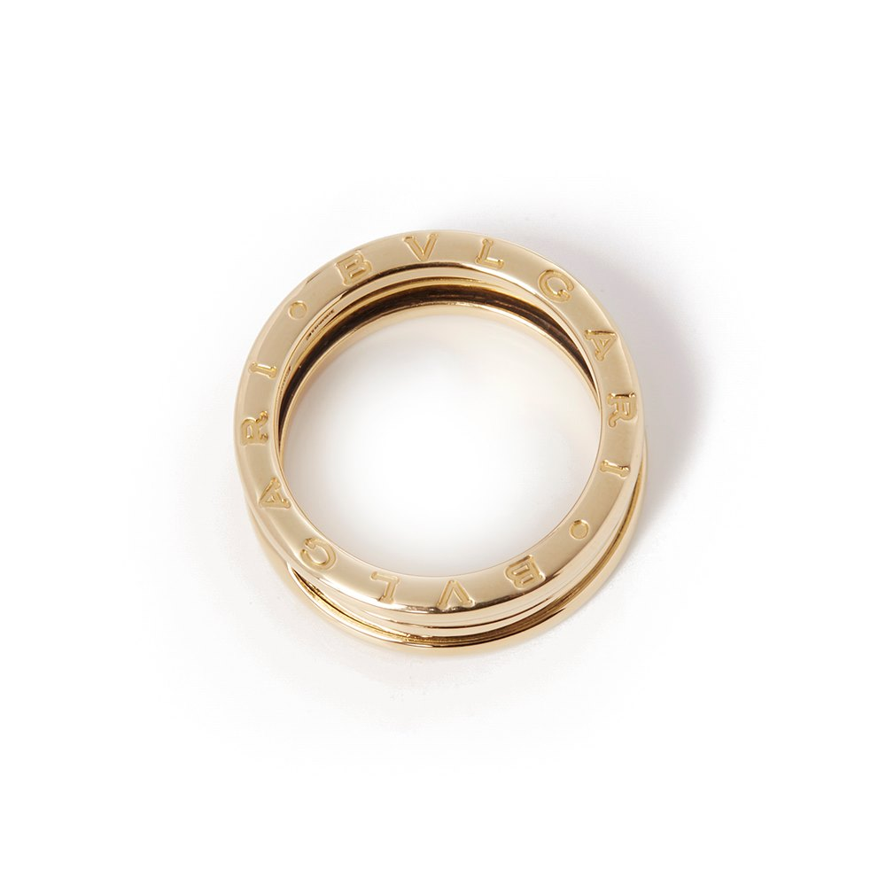 Bulgari 18k Yellow Gold B.Zero 1 Ring Size P 1/2
