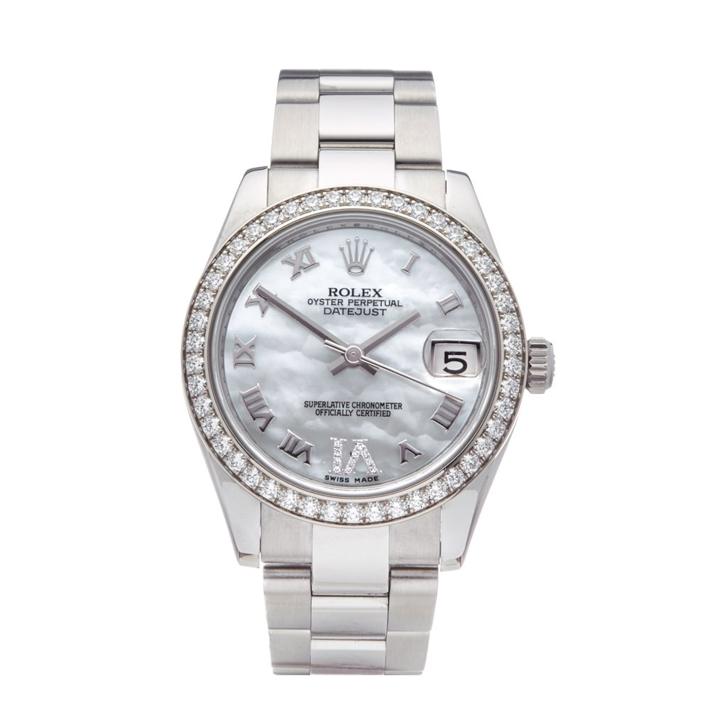 Rolex Datejust 31 Mother Of Pearl Diamond Stainless Steel 178384