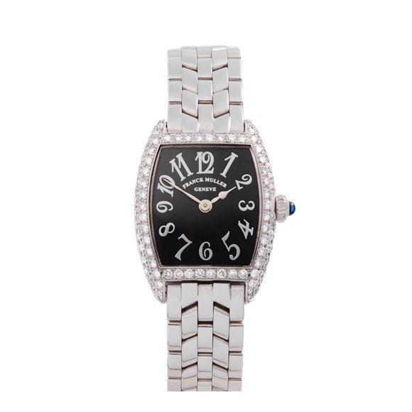 Franck Muller Cintree Curvex 25mm 18K White Gold - 1752QZ