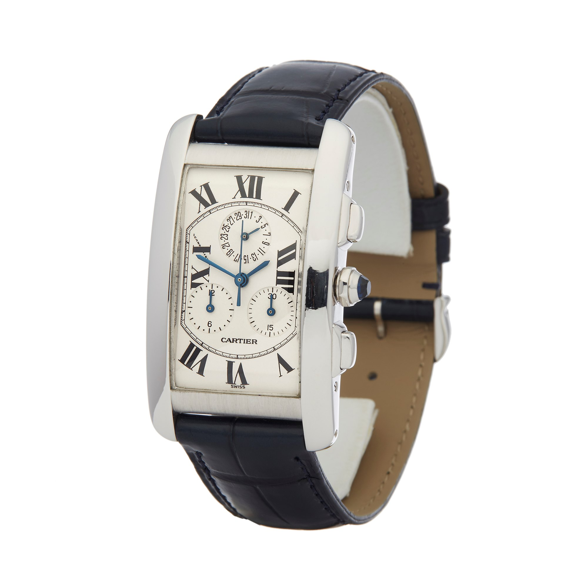 Cartier Tank Americaine Chronograph White Gold 2312