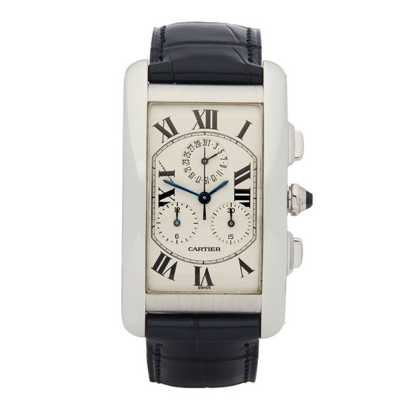Cartier Tank Americaine Chronograph White Gold - 2312