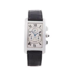 Cartier Tank Americaine Chronograph 18k White Gold - 2312