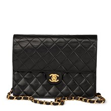Chanel Black Quilted Lambskin Small Classic Single Flap Bag