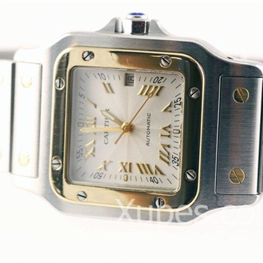 Cartier Santos Stainless Steel/18k Yellow Gold Bezel