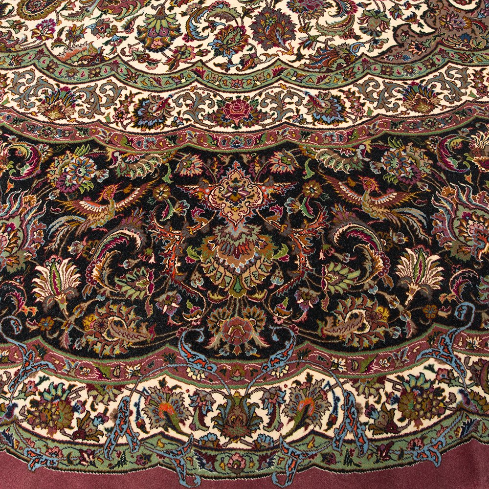 Large Vintage 1950 S Round Tabriz Persian Rug Orms127