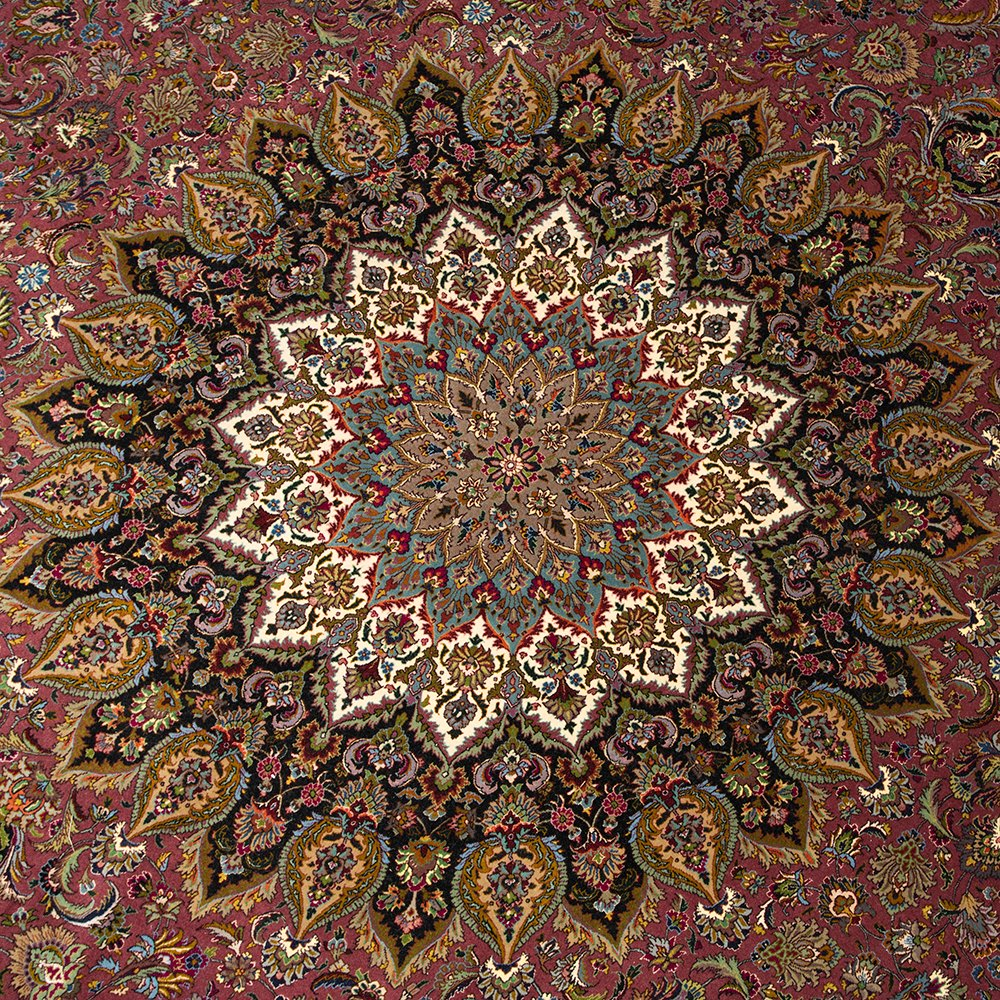 Large Vintage 1950's Round Tabriz Persian Rug ORMS127